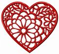 Heart in blossom embroidery design