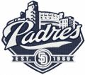 San Diego Padres baseball club embroidery design