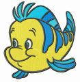 Flounder friend embroidery design