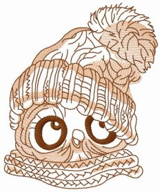 Baby owl 3 machine embroidery design