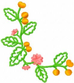 Oak leaves free embroidery design