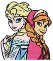 Frozen sisters 2 embroidery design