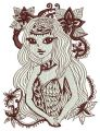Mysterious stranger embroidery design