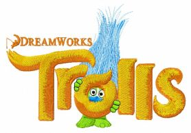 Trolls logo machine embroidery design