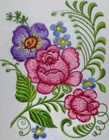Bouquet of Roses machine embroidery design