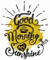 Good morning my sunshine embroidery design