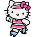 Hello Kitty Skating 1 embroidery design
