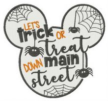 Let's trick or treat down main street