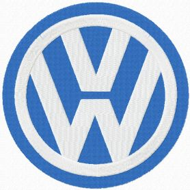Volkswagen logo machine embroidery design
