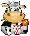 Lovely cow embroidery design