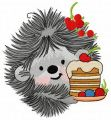 Hedgehog's birthday 6 embroidery design