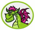 Elliott the Dragon 3 embroidery design
