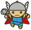 Chibi Thor embroidery design