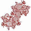 Flower decoration 3 embroidery design