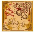 Merry Christmas postcard embroidery design