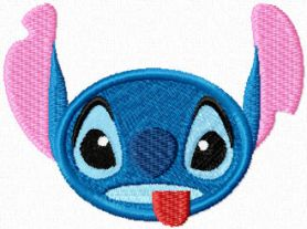 Stitch Smile Shows the Tongue machine embroidery design