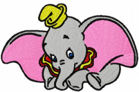 Dumbo 2 machine embroidery design