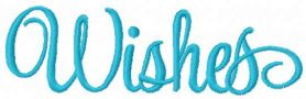 Wishes free embroidery design