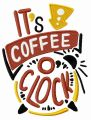 It's coffee o'clock embroidery design