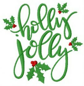 Holly Jolly machine  embroidery design