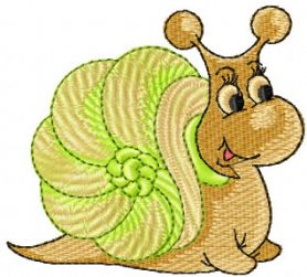 Snail free embroidery design