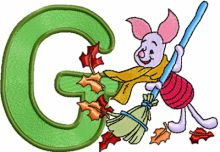 Piglet with letter G
