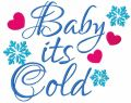 Baby its cold free embroidery design