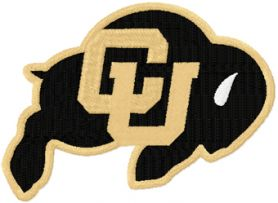 Colorado Buffaloes logo machine embroidery design