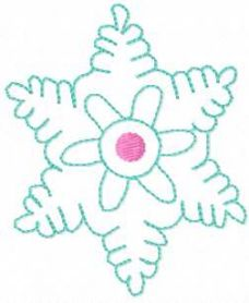 Christmas Snowflake free embroidery design 26