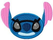 Stitch Smile with Glasses