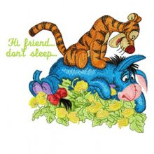 Tigger and Eeyore Hi friend, don*t sleep