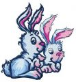 Easter bunnies 3 embroidery design