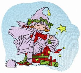 Christmas elf 5 machine embroidery design