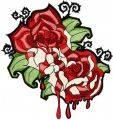 Blood roses embroidery design