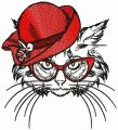 Signora Kitty embroidery design