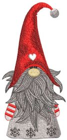 Christmas dwarf embroidery design