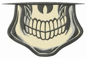 Male skull smile machine embroidery design