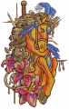 Gorgeous circus horse embroidery design