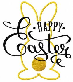 Happy Easter 5 machine embroidery design