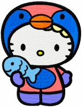 Hello Kitty Winter Fishing