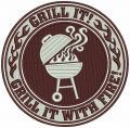 Grill It! embroidery design