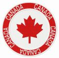 Canada badge embroidery design