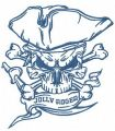 Jolly Roger 2 embroidery design