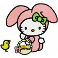 Hello Kitty Happy Easter  embroidery design