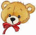 Surprised teddy bear's muzzle embroidery design