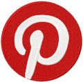 Pinterest 2 colors Logo embroidery design