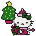 Hello Kitty Christmas 2 embroidery design