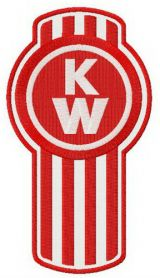 Kenworth alternative logo machine embroidery design