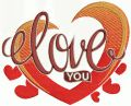 Love you 4 embroidery design