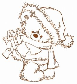 Christmas teddy bear 10 machine embroidery design